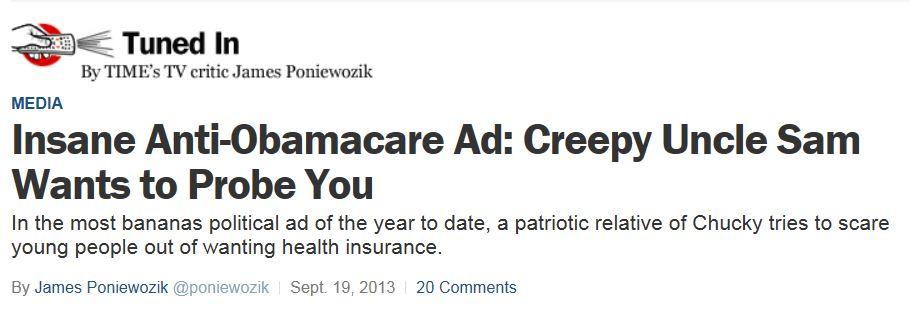 Creepy Obamacare Ad - Time