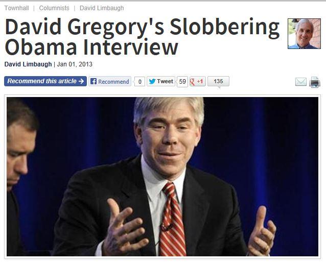 David Limbaugh - David Gregory Slobbering Obama Interview