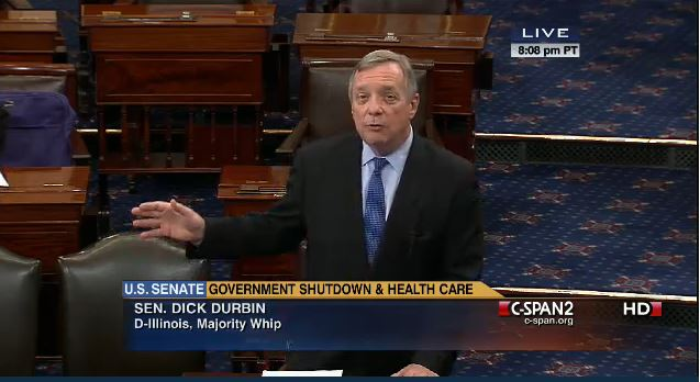 Dick Durbin Senate Floor Shutdown