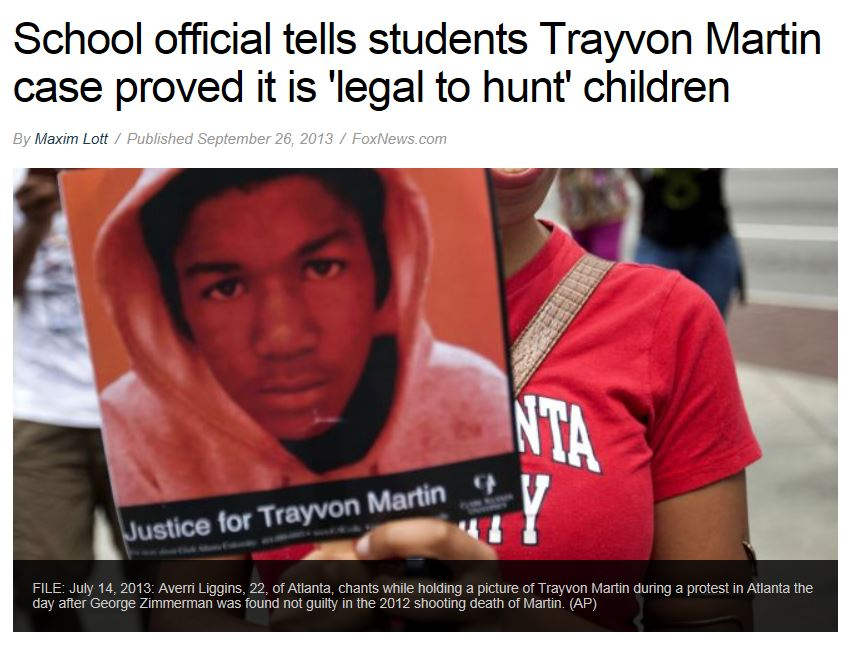 Fox news - Maryland Trayvon Martin Email