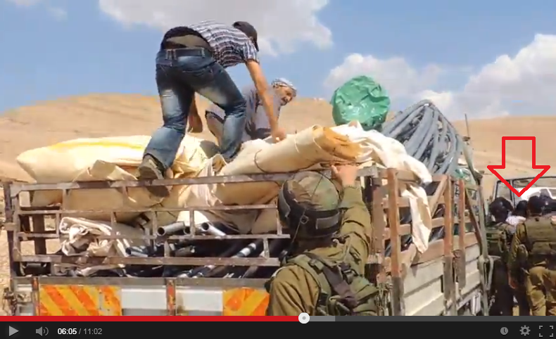 (French Diplomat exits truck standing up, via BBC Watch)