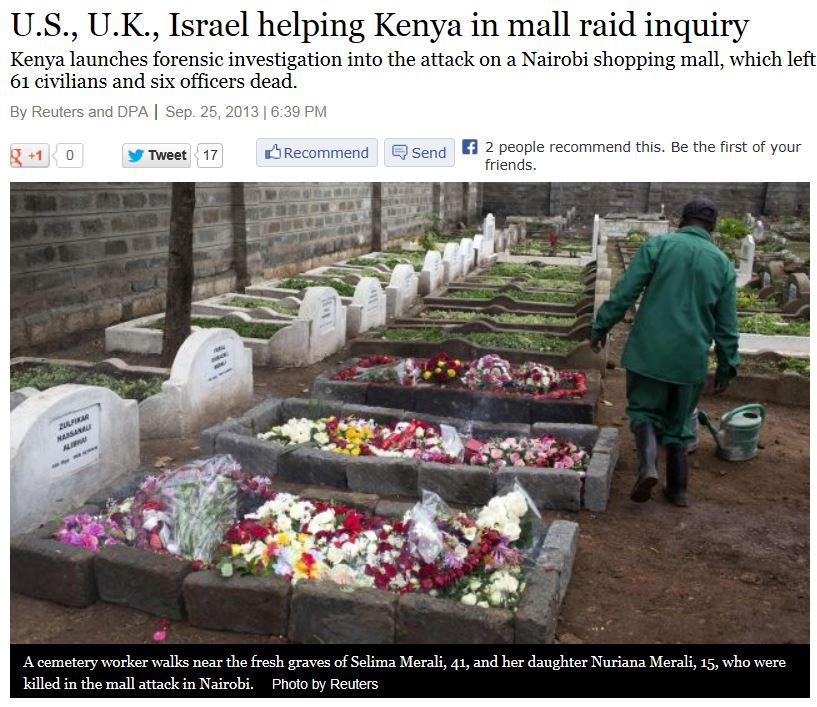 Haaretz US UK Israel helping Kenya