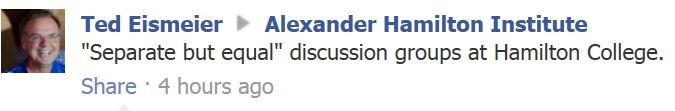 Hamilton Real Talk - Eismeier FB post