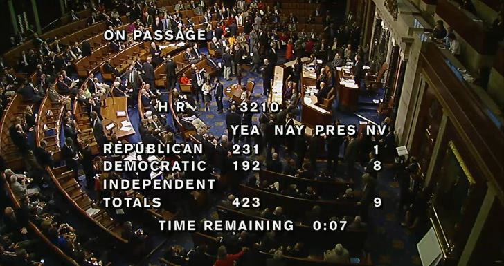 (House Vote Amendment No. 3 Funding Military Pay)