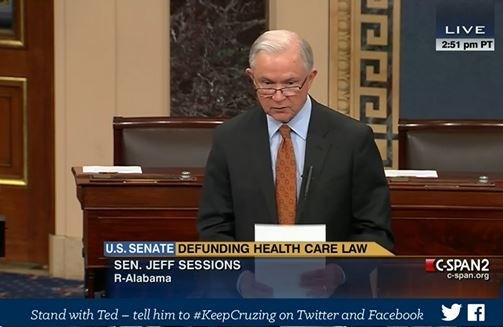 Jeff Sessions filibuster Obamacare