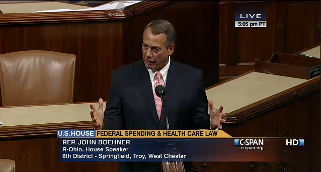 John Boehner during debate on Amendments 9-30-2013