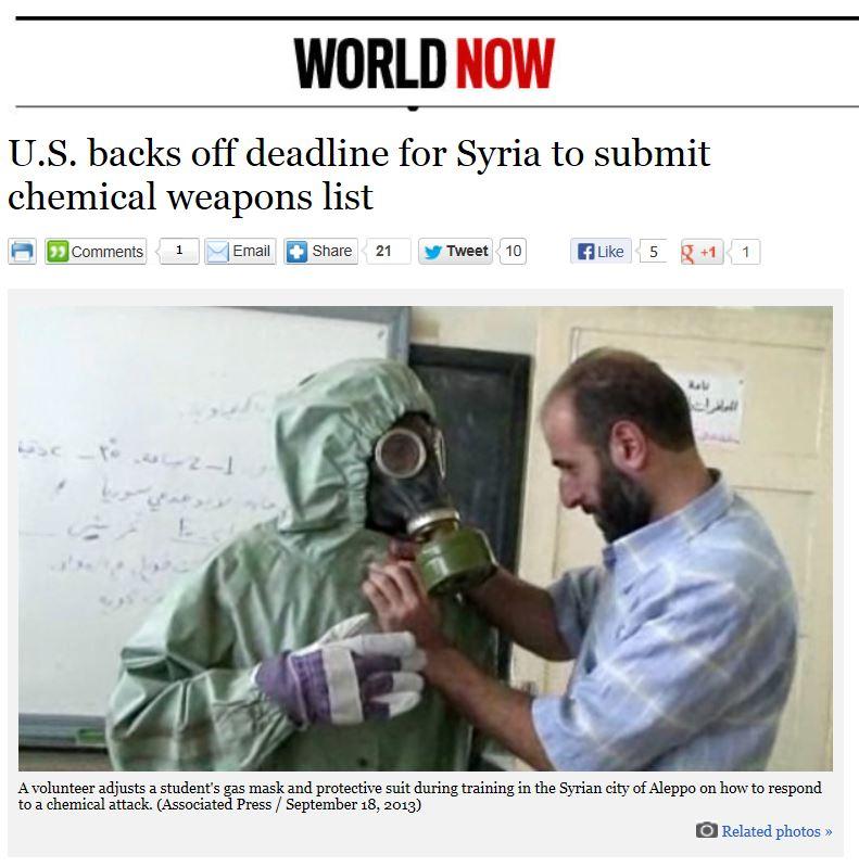 LA Times - US backs off deadline Syria