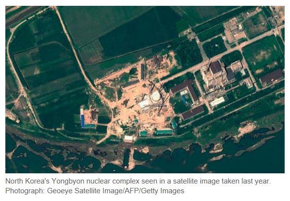 North Korea Nuclear Plant Satellite