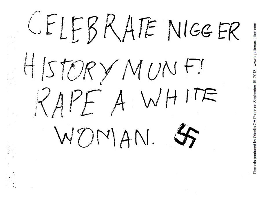 Oberlin Celebrate Rape White Woman