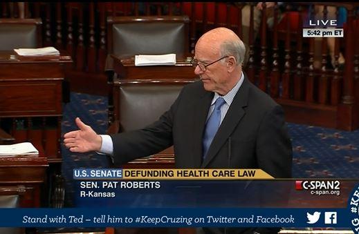 Pat Roberts filibuster Obamacare