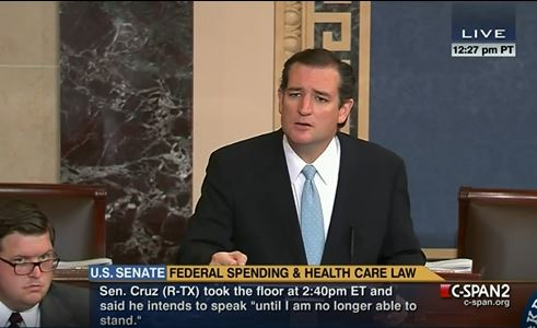 Ted Cruz Filibuster Obamacare