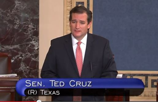 Ted Cruz Senate Floor Obamacare Defunding