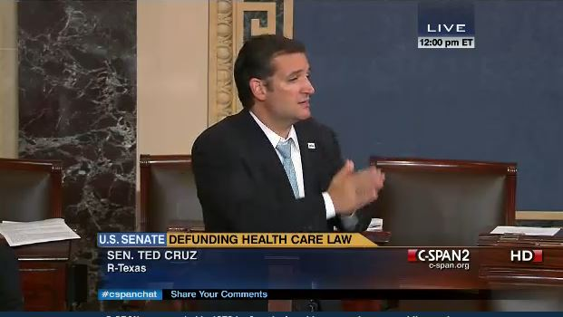 (Ted Cruz concluding filibuster by Senate Rule at Noon, September 25, 2013)