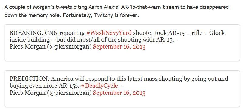 Twitchy Morgan AR-15 deleted tweets