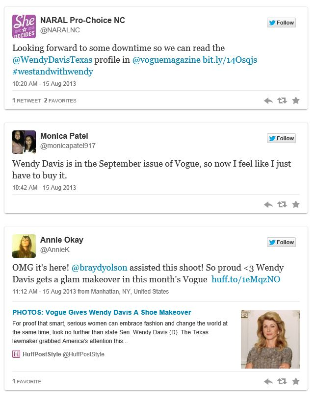Twitchy Wendy Davis Vogue