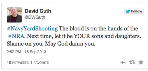 Twitter DWGuth blood on hands