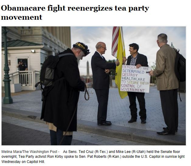 WaPo Tea Party Support Rising