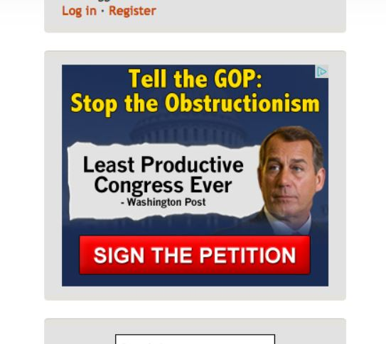 Advertisement - Anti Boehner at LI