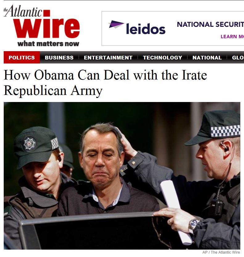 Boehner Arrest The Atlantic