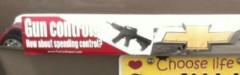 Bumper Sticker - Montgomery AL - gun control