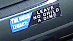 Bumper Sticker - No Child Left A Dime Vote Obama