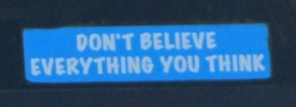 Bumper Sticker - Portland OR - don't believe what you think