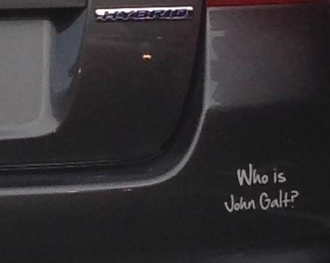Bumper Sticker Who Is John Galt
