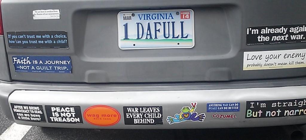 Bumper Sticker - Virginia - Trust