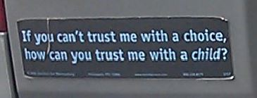 Bumper Sticker - Virginia - Trust Child