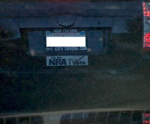 Bumper Sticker - Walnut Creek CA - NRA Vote