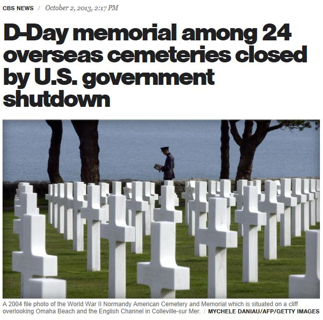 CBS Normandy memorial closed