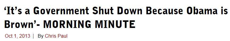 Chris Paul Govt Shut Down Because Obama Is Brown