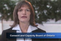 Consent and Capacity Board of Ontario hearing video screen shot