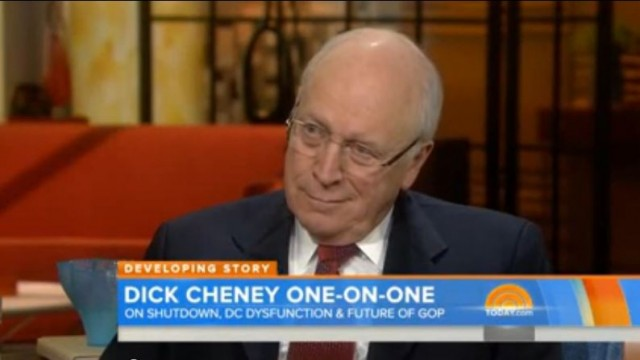Dick Cheney defending loyal patriotic Tea Party on Today Show