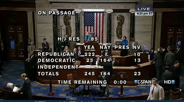 House FEMA Vote