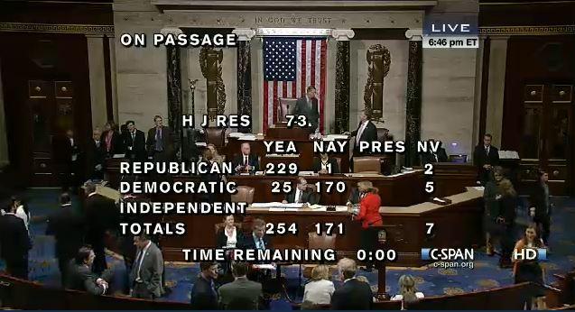 House Vote NIH funding 10-2-13