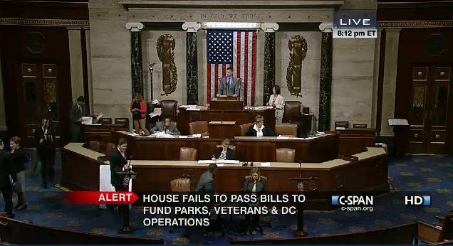 House vote Veterans Parks DC