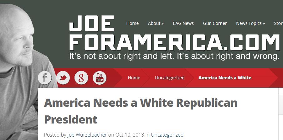 JoeForAmerica America Needs a White Republican President