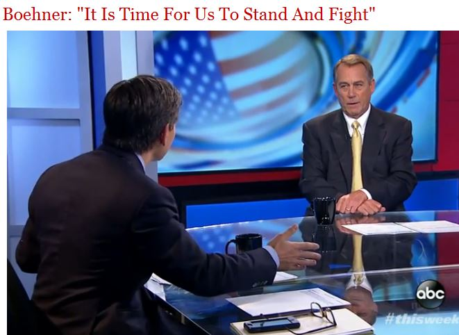 John Boehner Stand and Fight