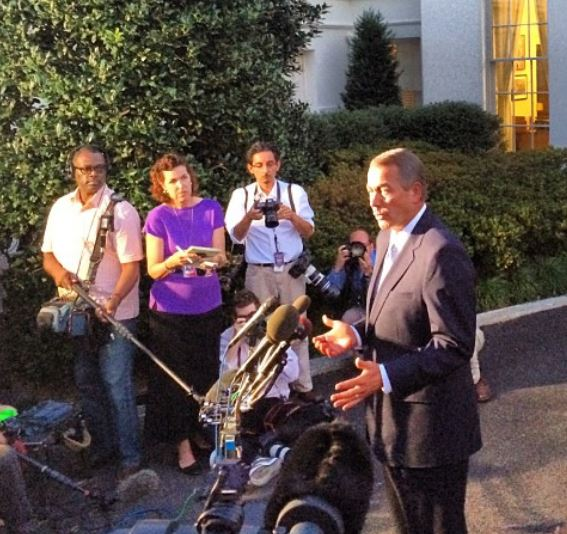 John Boehner after White House Mtg 10-2-2013