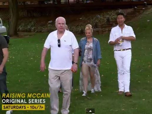 John McCain Meghan McCain Walking