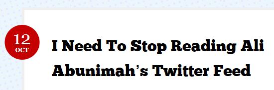 MJ Rosenbert Need to Stop Reading Ali Abunimah's Twitter Feed