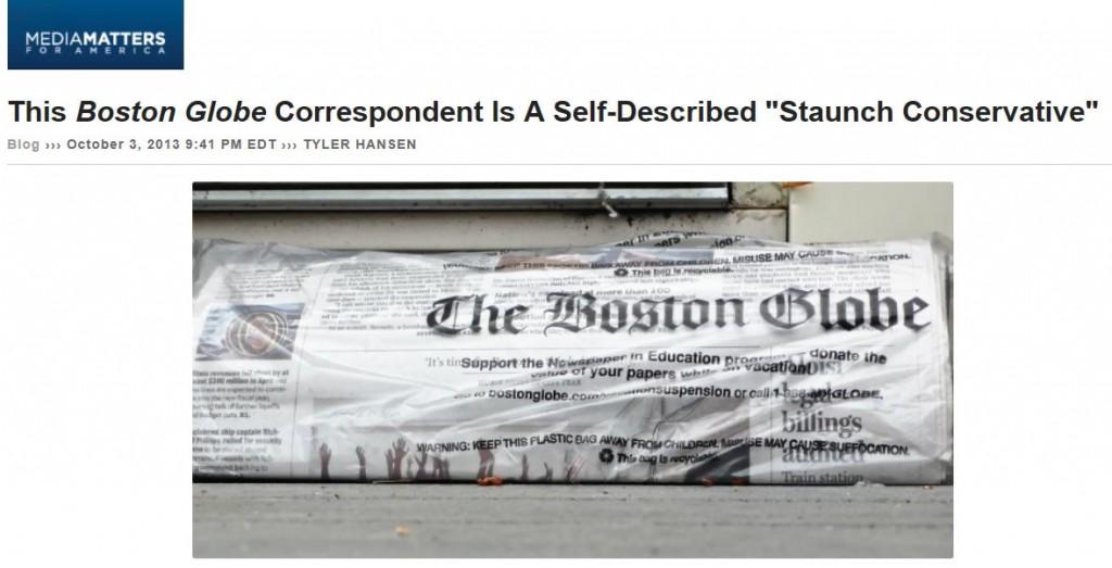 Media Matters Boston Globe Staunch Conservative