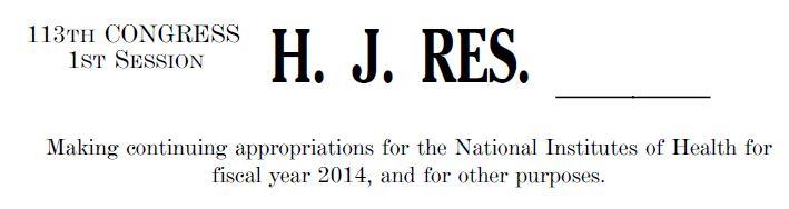 NIH funding bill
