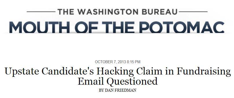 NY Daily News Upstate Hacking Claim