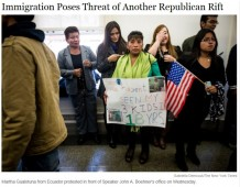 NYT Immigration poses Republican Rift