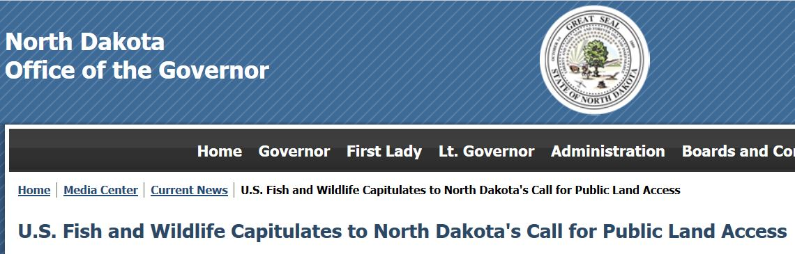 North Dakota Gov Fish and Wildlife
