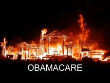 Obamacare Burning