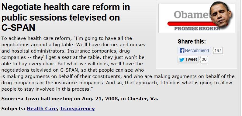 Politifact Obama promise CSpan