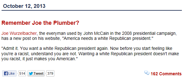 Remember Joe the Plumber